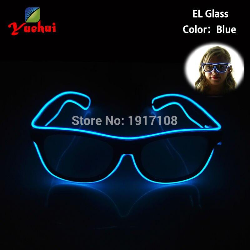 Blikající EL Led brýle Luminous Party dekorativní osvětlení Barevné pro Bright Light Festival dárek s DC-3V Steady Inverter