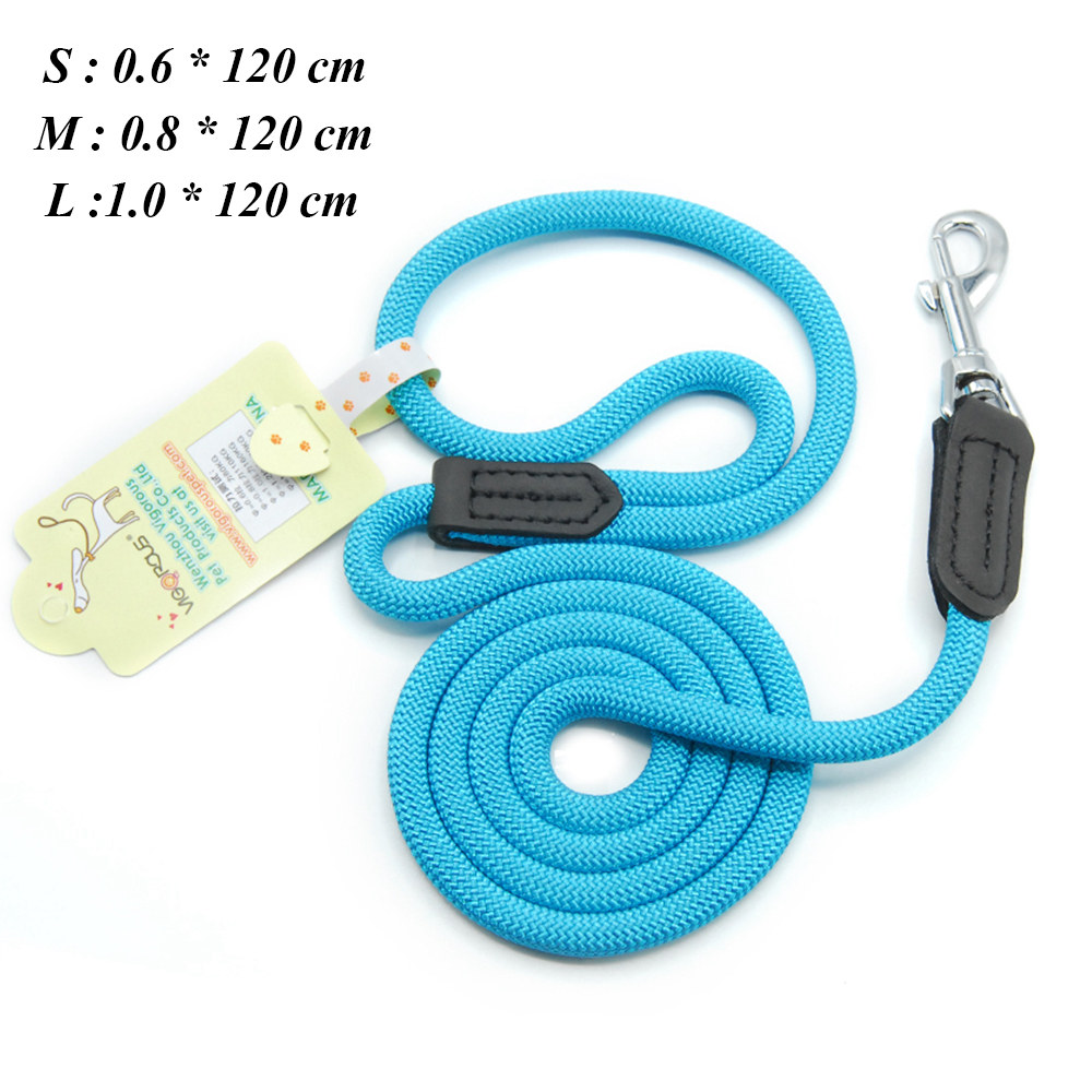 Dog Leashes For Small Dogs Collar Nylon Puppy Leash Collar Dog Leash For Large Dogs Basic Leashes Solid Rope (2)