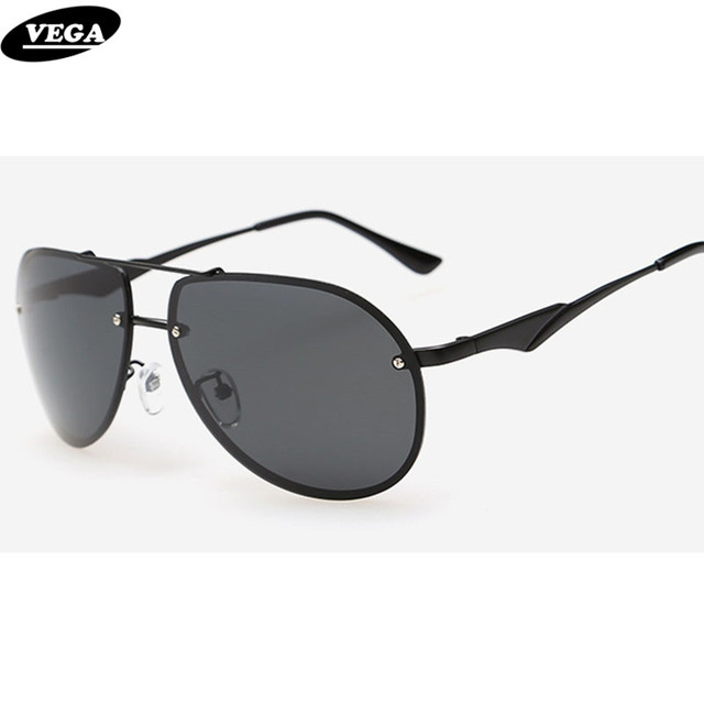 VEGA Mens Brown Tinted Sunglasses Polarized Trendy Military ...