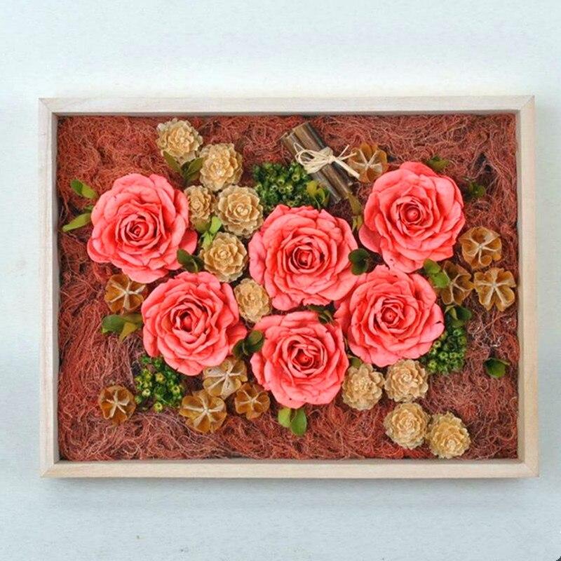 Main Rose fleurs Séchées éternelle boîte de haute qualité couleur ... a51829232f2
