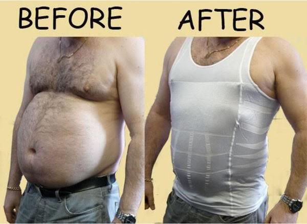 Hot sales Men Shaper Vest Body Slimming Tummy Belly Waist Girdle Shirt Shapewear Underwear 2