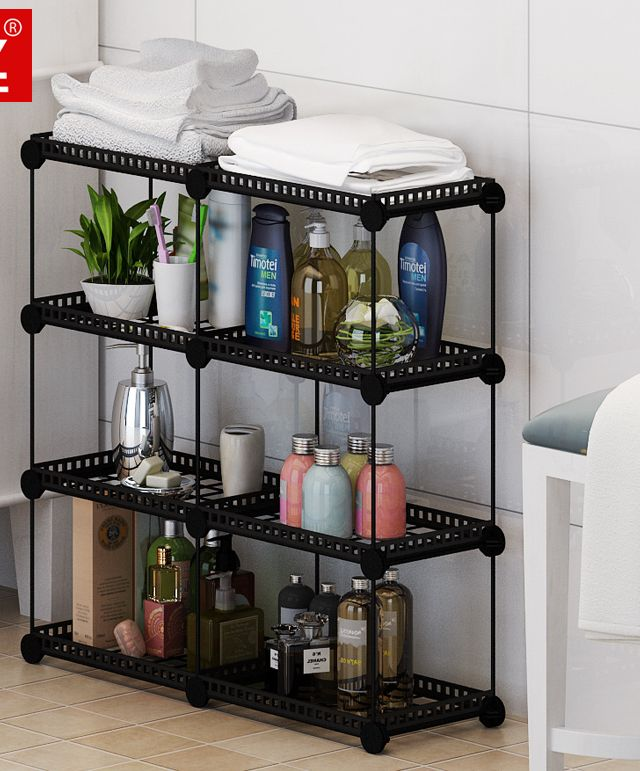 5 Layers Bathroom shelf bathroom rack floor washbasin storage shelf bathroom vanity shelf