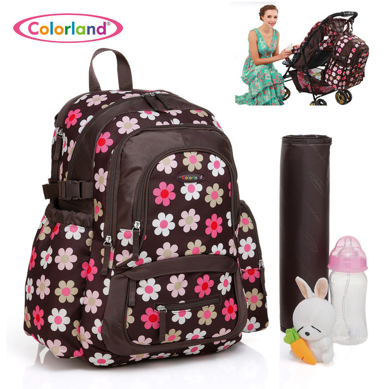 Colorland Baby Bag Organizer Tote Diaper Bags Large Nappy Bag For Stroller Diaper Backpack Mother Maternity Bags Mom Backpack