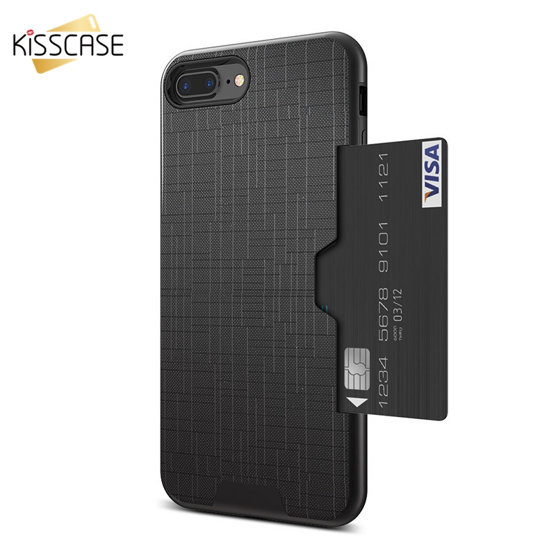 KISSCASE Phone Case For iPhone 7 8 6 6S Plus Combo Card