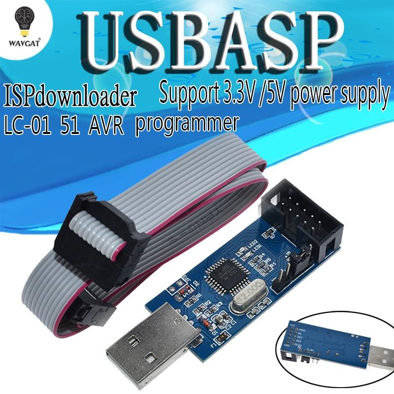 ה- usb הסתיר atmega8 - WAVGAT USBASP USBISP AVR Programmer USB ISP USB ASP ATMEGA8 ATMEGA128 Support Win7 64