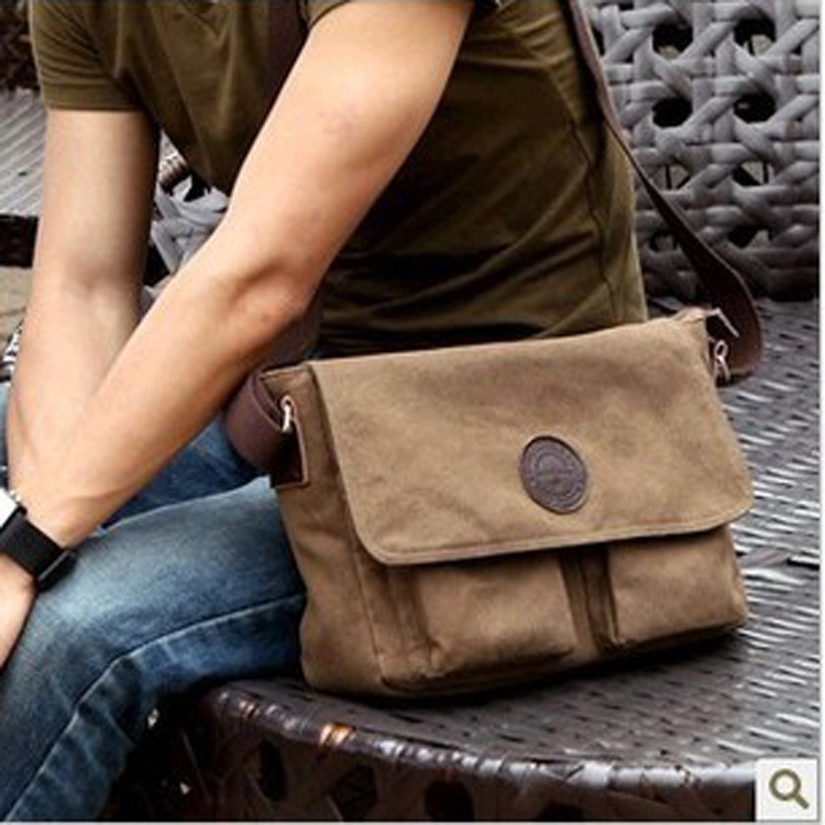 Hot sale!! Men Canvas Shoulder Messenger Bag School Bag 25b5d8bb354ef