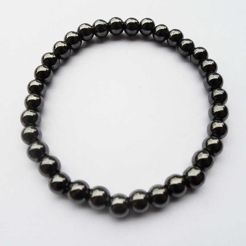 2019 товары SWE 6 мм Черный желчный камень гематитовый Будда бусы для пар здоровья полудрагоценный камень браслет ювелирные изделия