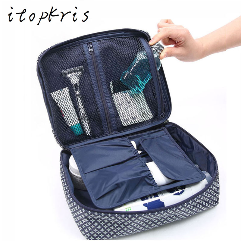 Itopkris Necessaries Woman Cosmetic Bag Travel Makeup Organizer Toiletry Bag Portable Handing Make Up Pouch Storage Wash Case
