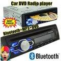 Новый 1 din 12 В Автомобиля радио bluetooth DVD VCD CD тюнер Стерео FM MP3 Аудио Плеер Телефон USB/SD/MMC, Порт аудио Автомобиля bluetooth 1 DIN
