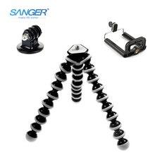SANGER SLR Camera Mobile Phone Octopus Tripod+Mount Adapter Stand+Clip Small/Medium/Large for Xiaomi YI Gopro Hero 5/4/3+ Sj4000