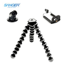SANGER SLR Camera Mobile Phone Octopus Tripod+Mount Adapter Stand+Clip Small/Medium/Large for Xiaomi YI Gopro Hero 5/4/3+ Sj4000(China)
