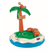 Giant Tropical Island Pool Float Coconut Tree Inflatable Floating Row 2019 Summer New Pool Floating Raft Water Beach Party Toys