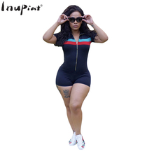 INUPIAT Fashion Tracksuit for Women 2017 New Casual Style Concise Design Short Sleeve Slim Rompers for Female