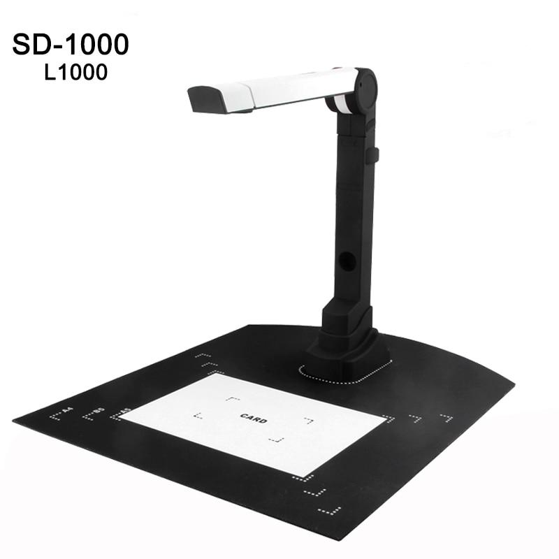 L1000 Mini High-Speed A4 Document Book Photo ID Card Scanner Camera Video Visualizer SD-1000