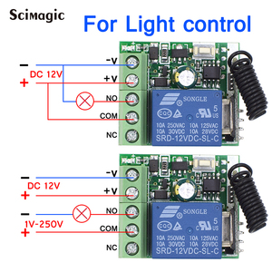 Image 4 - 433Mhz DC12V 1CH Relay Wireless Remote Control Switch 433 MHz RF Receiver Module For Smart Home Switch Transmitter Diy