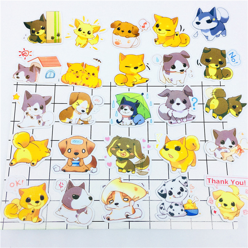 35 PCS Anime mood little wolf Stickers Crafts And Scrapbooking stickers book Student label Decorative sticker kids toys