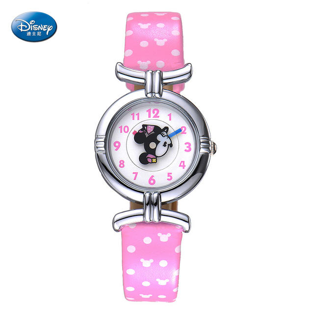 Women Cartoon Leather Mouse Sport Analog Quartz Disney Top Brand Luxury Student Girls Wrist Watch Gift Montre Femme Feminino
