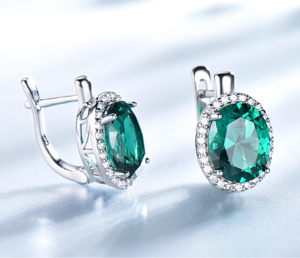 UMCHO-Emerald-925-sterling-silver-clip-earring-for-women-EUJ084E-1-PC_04