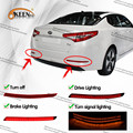 Carro Vermelho Len LED Bumper Refletor Luz Traseira para Kia Optima K5 2014 2015 Sinal de Volta Âmbar Noite Correndo Freio Traseiro Cauda Nevoeiro Lâmpada