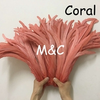 40 45cm 16 18 Rooster tail feather 22 Colors DIY feather clothing jewelry accessories / wedding Party supplies performance