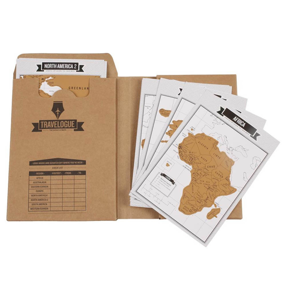 MIRUI Travelogue Scratch World Map Travel Tips Book Journal Log Notebook Tourist Gift