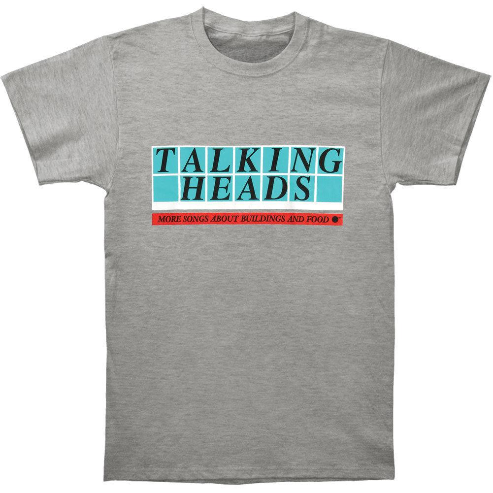Talking Heads Mens More Songs Logo Vintage T-shirt Heather