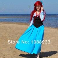 Ariel princesa traje sexy traje adulto sereia trajes de halloween para as mulheres cosplay conto de fadas vestido de banda desenhada das mulheres personalizado