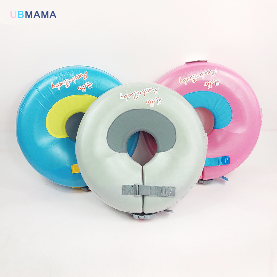 High quality mosaic infant free inflatable child safety swimming ring collar baby neck float Swimming pool accessories