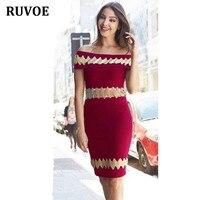 High Quality Women Autumn New Wine Red Slash Neck Sleeveless Bandage Dress Fashion Casual Ladies Celebrity