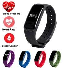 Артериального давления умный Браслет монитор сердечного ритма браслет крови кислородом M8 Bluetooth SmartBand трекер для IOS Android