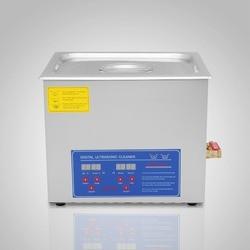 10L Powerful Stainless Steel Ultrasonic Cleaner 10L Liter 240+250W Digital Timer Heater