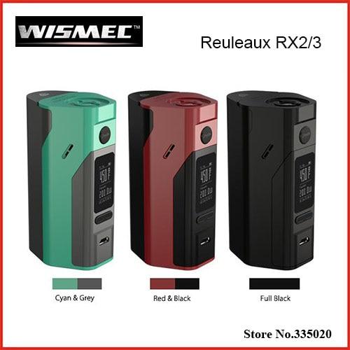 Original Wismec Reuleaux RX2/3 TC 150W/200W Box Mod Upgradeable Firmware Reuleaux RX2 3 TC RX23 Mod VS RX200S perseus 150w tc box mod