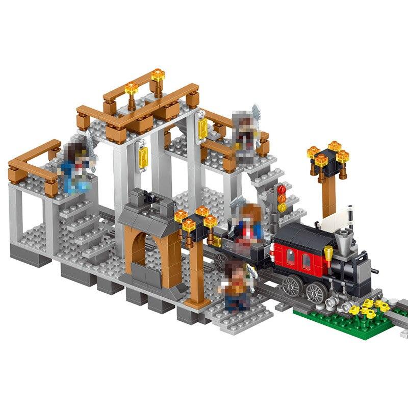 LELE My World Power Morse Train Building Blocks Kits Classic Educational Children Toys Compatible LegoINGlys Minecrafter 541 Pcs classic world классический самолет 27 деталей