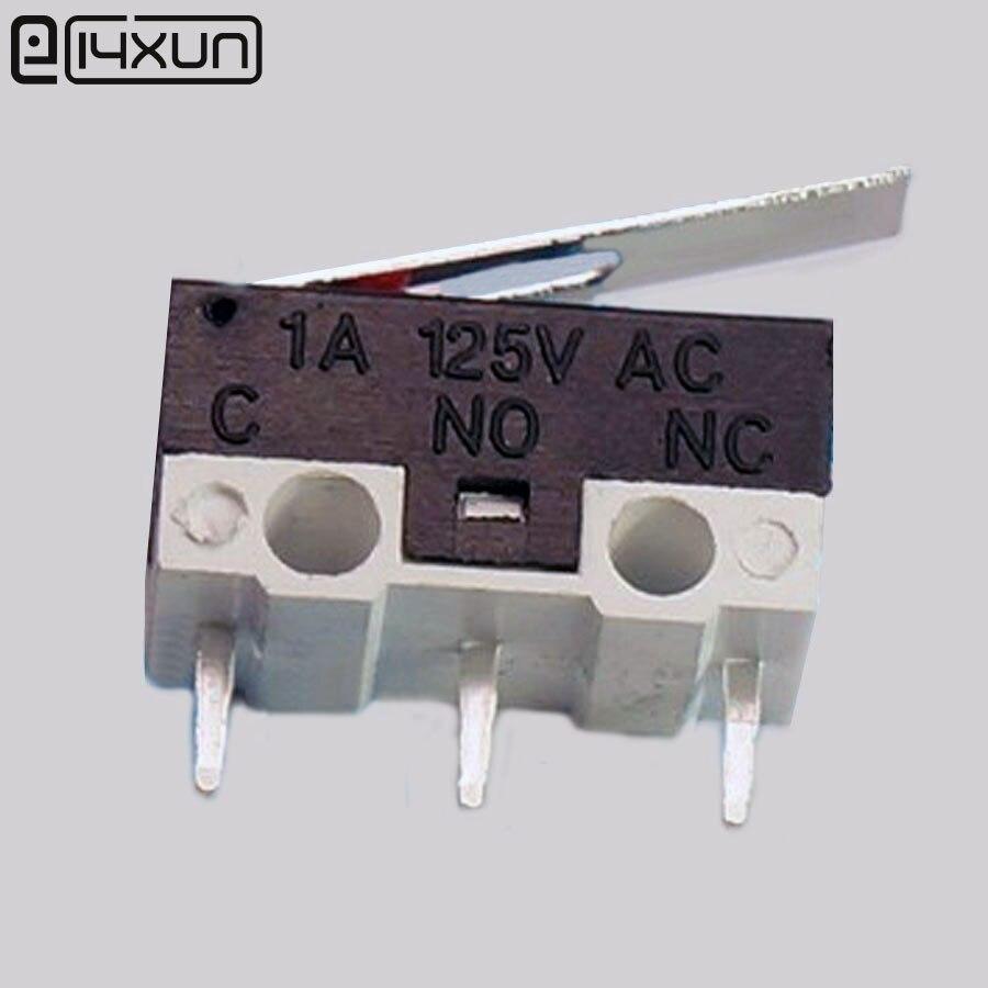 10 Stks 3 P Muis Switch Klik Schakelaar Verticale 3pin Ac 1a 125 V Ac Rechthoekige Schakelaar Met Handvat Mini Micro Drukknop Schakelaar