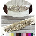 Fashion Luxury Pearl Woman Bridal Sash with Crystal Rhinestone Formal Wedding Gown Belts Accessories Evening Dress Belt