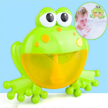 лучшая цена Soap Bubble Machine Big Frogs Toys for Children Kids Bubble Crabs Baby Bath Toy Funny Bath Bubble Maker Pool Swimming Bathtub