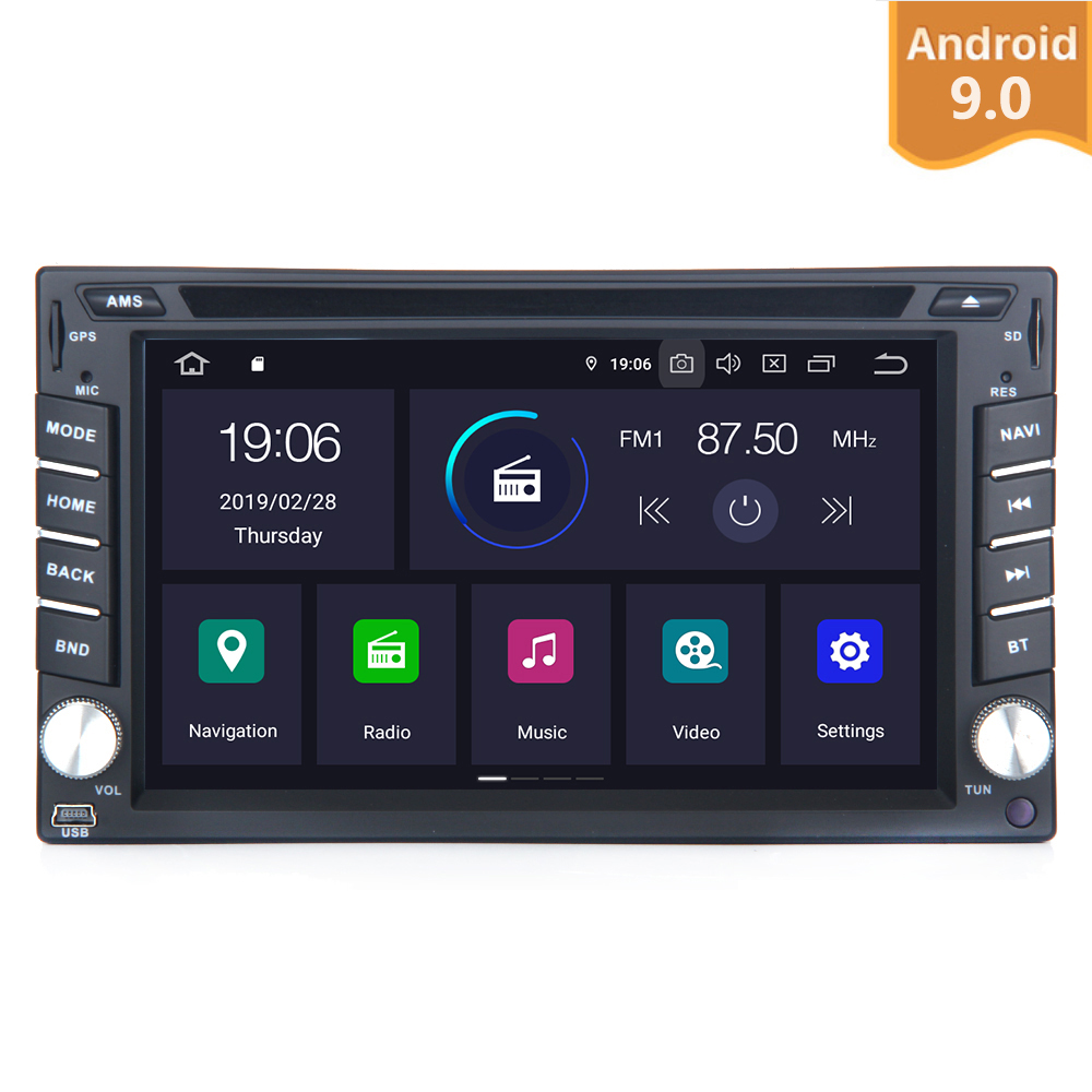 Android 9.0 Universal Car Radio 2 Din multimedia GPS Navi PX6 Built in DSP IPS Screen 4Gb+64Gb 6 Core RDS WIFI Bluetooth