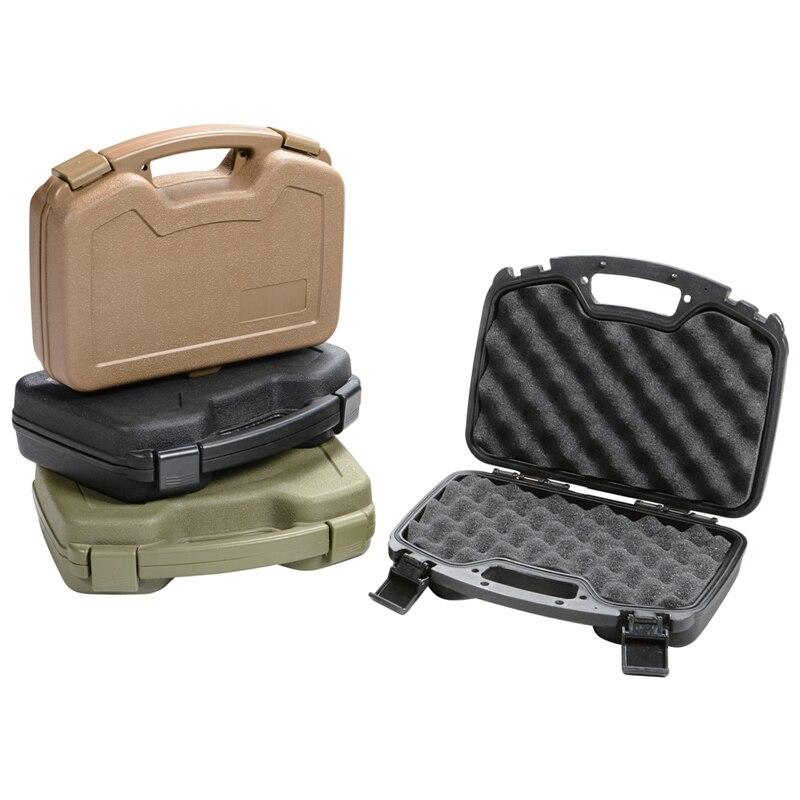 Pistol Gun Storage Case ABS Plastic Box Gun Guard Case Hunting Hard Storage Case with Foam