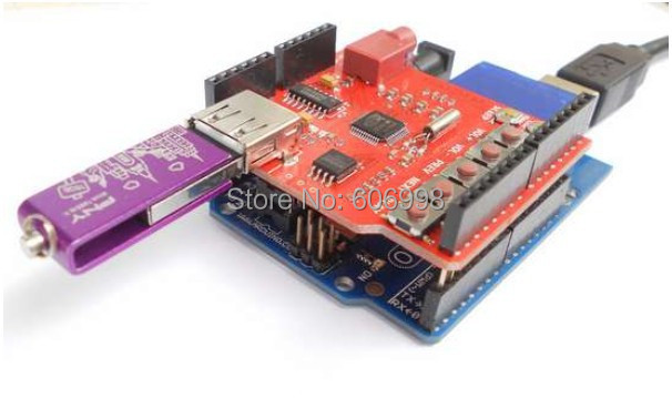 5pcs/lot For Arduino USB-SD MP3 Shield
