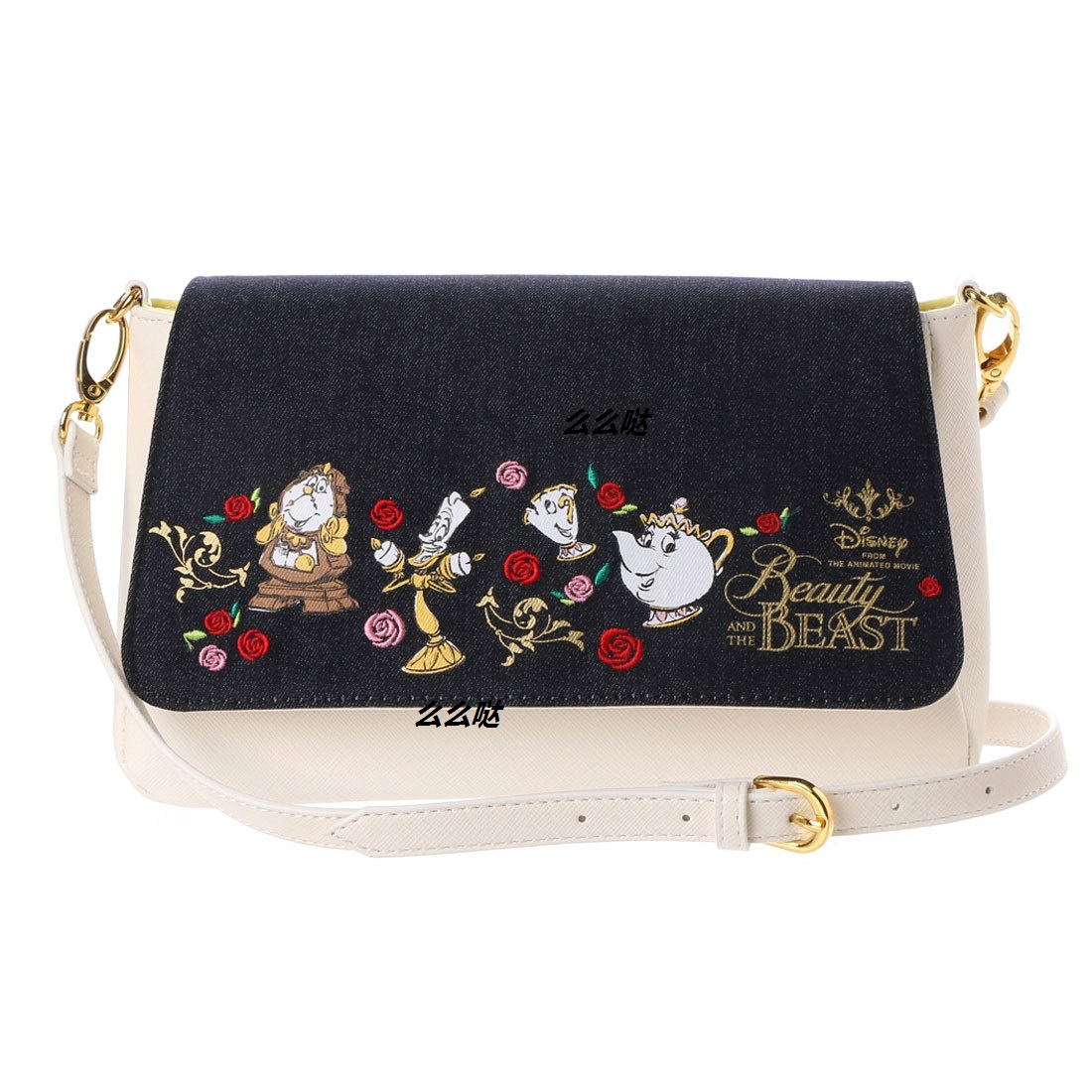 New Fashion Genuine Beauty And Beast Wallet Belle Princess Handbag Girls Cartoon Shoulder Bag For Girls