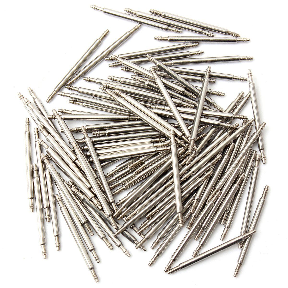 100 Pcs Spring Bar Stem Wristwatch Clock Repair Remover Tool 16mm