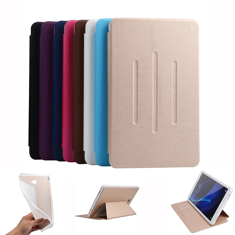 Flip Case For Samsung Galaxy Tab A A6 10.1 2016 T580 T585 T580N SM-T580 Cover Case Funda Soft TPU+Leather Tablet Protect Shell fashion pu leather flip case for samsung galaxy tab a a6 10 1 2016 t580 t585 sm t580 smart case cover funda tablet sleep wake up