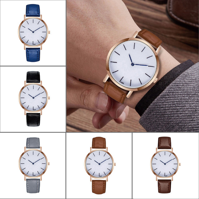 Fatchion design Leather Band Watches Men Top Brand Relogio Masculino 2018 NEW Mens Sports  Analog Quartz Wrist Watches pt5