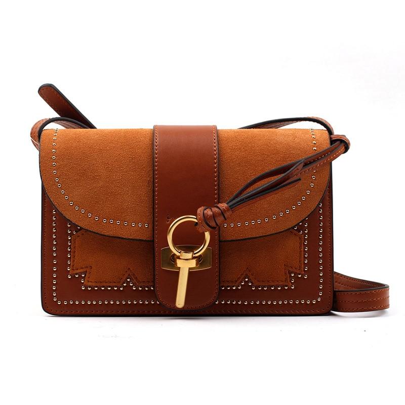 Famous Brand 2018 New Arrive Women Handbag Genuine Leather Fashion Flap Ring Cloe Mini Bag Clutch bag casual Lady Shoulder Bag