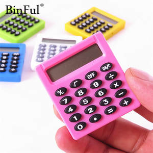 BinFul Student Mini Electronic Calculator Candy Color Calculating Office Supplies