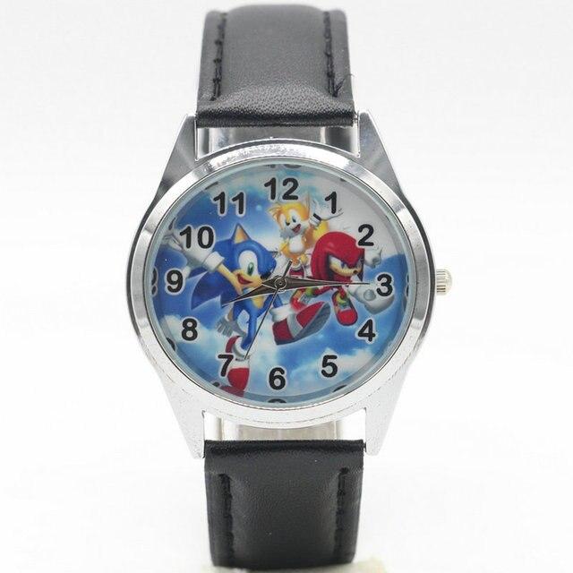 Free Shipping new fashion Sonic Watches Children Kids Boys gift Watch Casual Qua