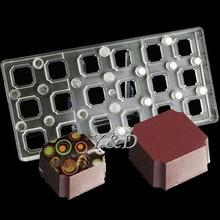 DIY 3D Platz Transparente Polycarbonat PC Box von Schokoladenformen Transfer Magnettafel Backen Candy Schokoladenform