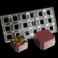 DIY 3D Square Transparent Magnetic Polycarbonate PC Box Of Chocolate Molds Transfer Magnet Board Baking Candy