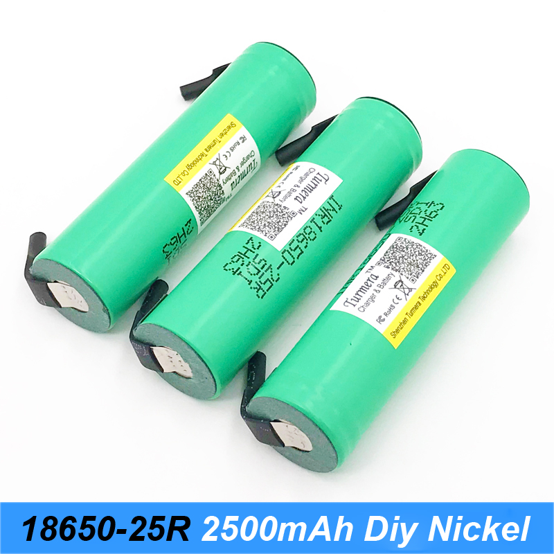 18650 battery inr18650 25r 20a 2500mAh inr18650-25r 2500mah for ecig battery power tools with diy nickel jun22