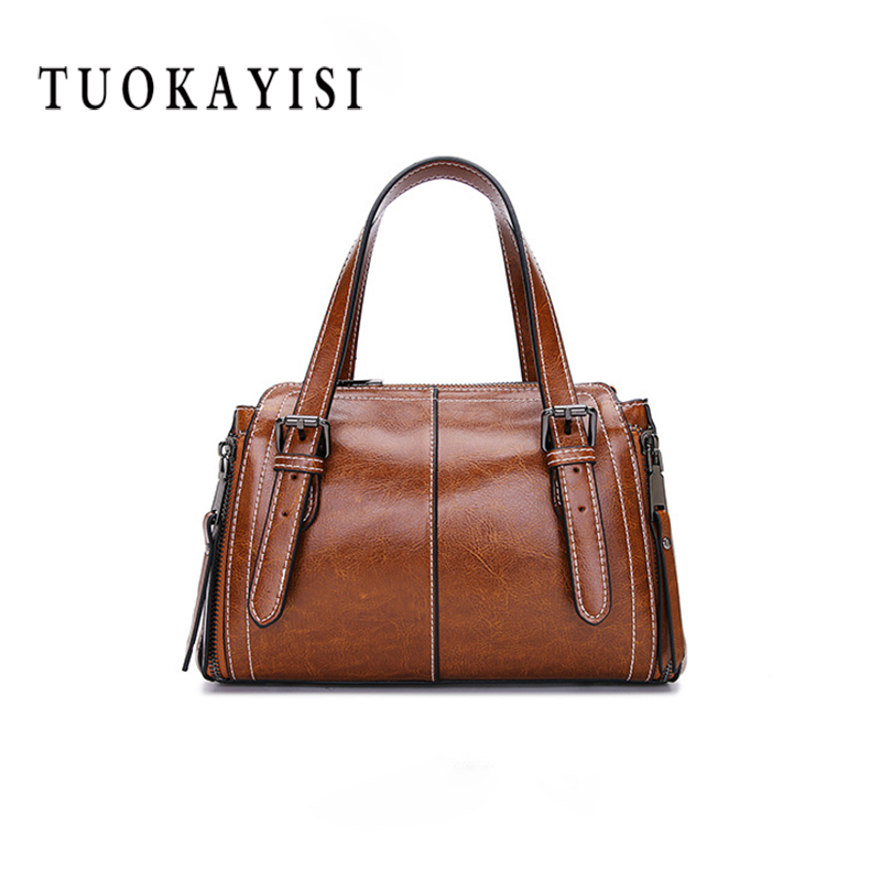 100% Genuine Leather Handbag Women Shoulder Bag Crossbody Messenger Bags Lady Totes European Style ladies Large Top-Handle Bag fashion women handbags tassel pu leather totes bag top handle embroidery crossbody bag shoulder bag lady simple style hand bags